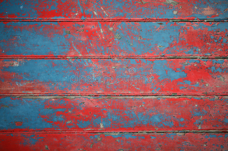 Background of red and blue painted boards stock photos
