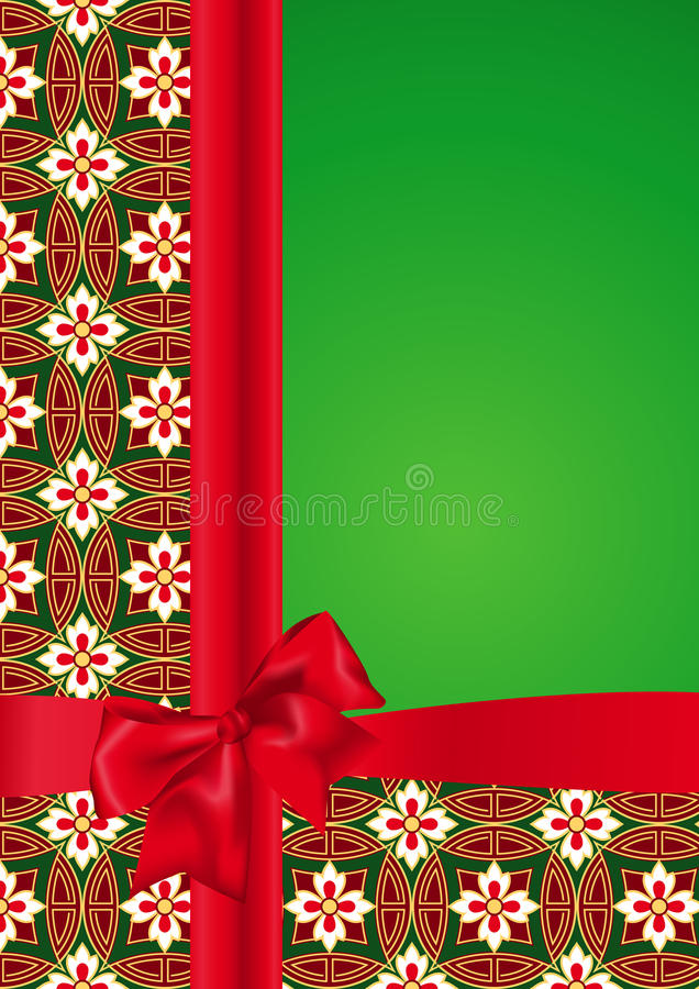 Background With Red Bow Royalty Free Stock Images