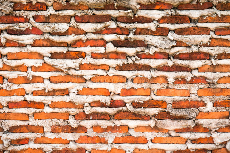 Background of Red brick motar over stock images