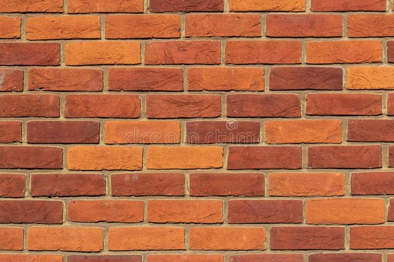 Background of red brick wall pattern texture royalty free stock image