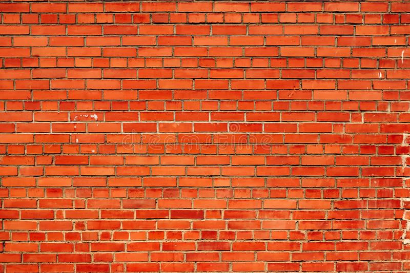 Background of red brick wall pattern texture. Great for graffiti inscriptions royalty free stock photos