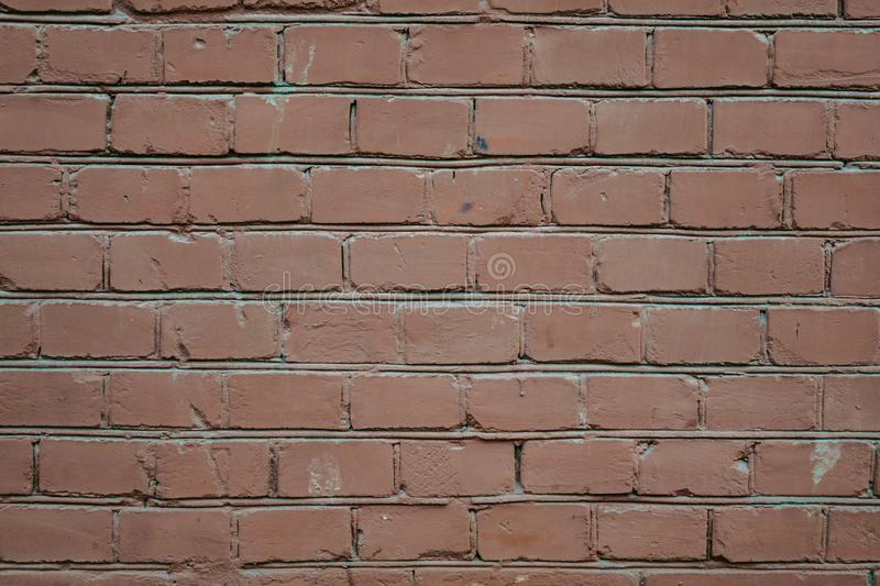 Background of red brick wall pattern texture. Great for graffiti inscriptions stock photos