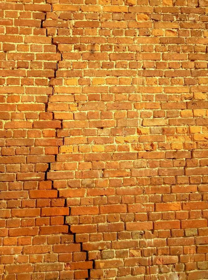 Background of red brick wall pattern texture. Great for graffiti inscriptions royalty free stock photography