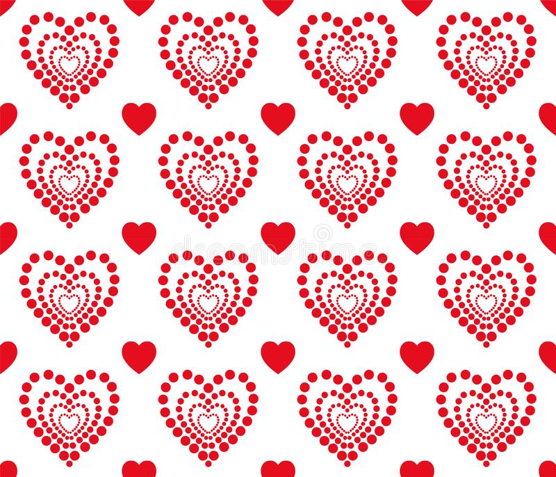 Red heart pattern for Valentines Day. Clean and lovely background design. vector illustration