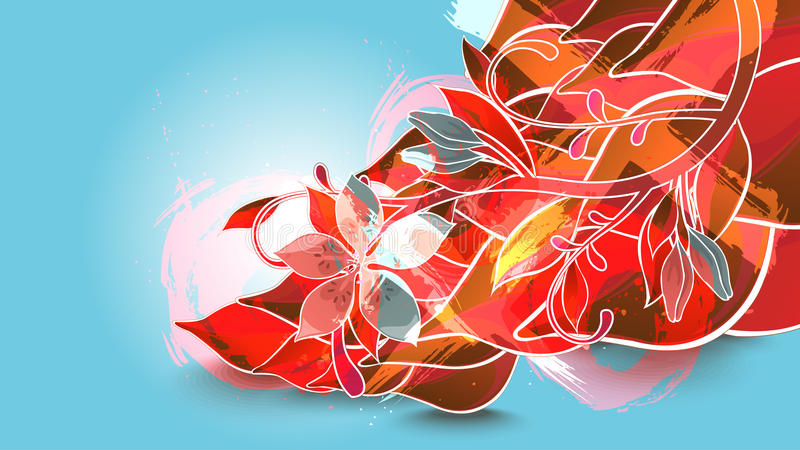 Download Background with red leaves stock vector. Image of design - 23073186
