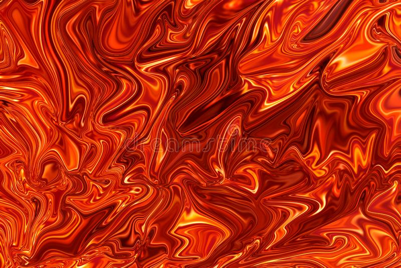 Red tone oil background. Background, red oil, circle back and forth. Water color stock illustration