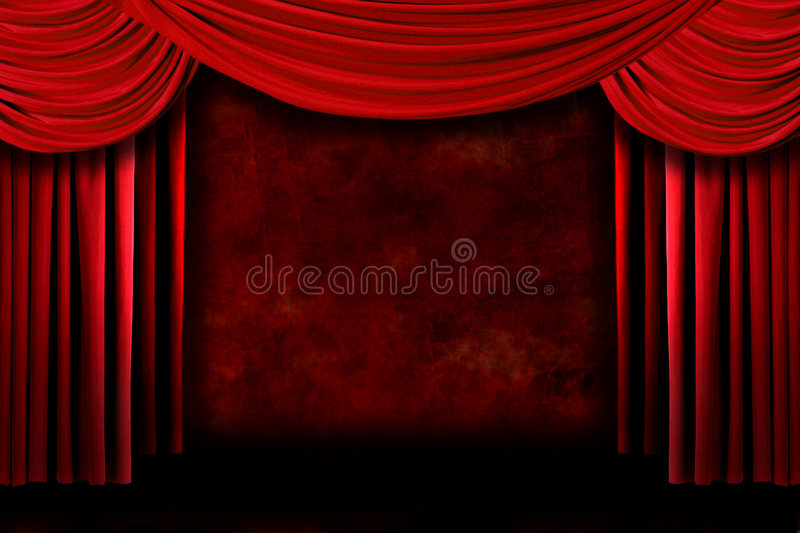 Background of Red Stage Theater Drapes royalty free stock photo