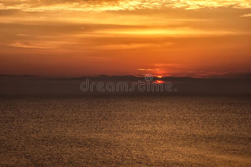 Background with red sunrise / sunset royalty free stock images