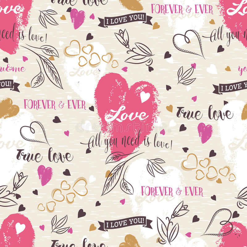 Background with red valentine heart , flower, wishes text, vec stock photo