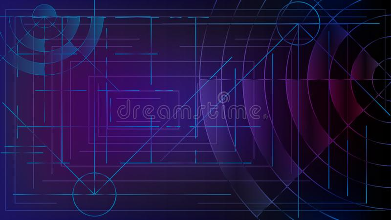Abstraction. Login to the computer system. Intersecting lines and waves. royalty free illustration