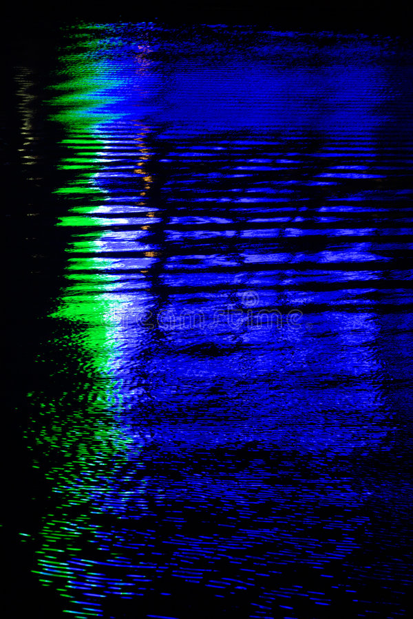 Download Background-reflection Of Neon  In The Water Stock Image - Image: 437185