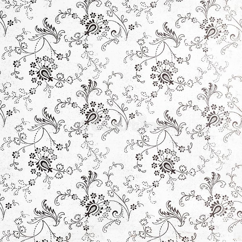 Background of a repeat botanic pattern. stock images