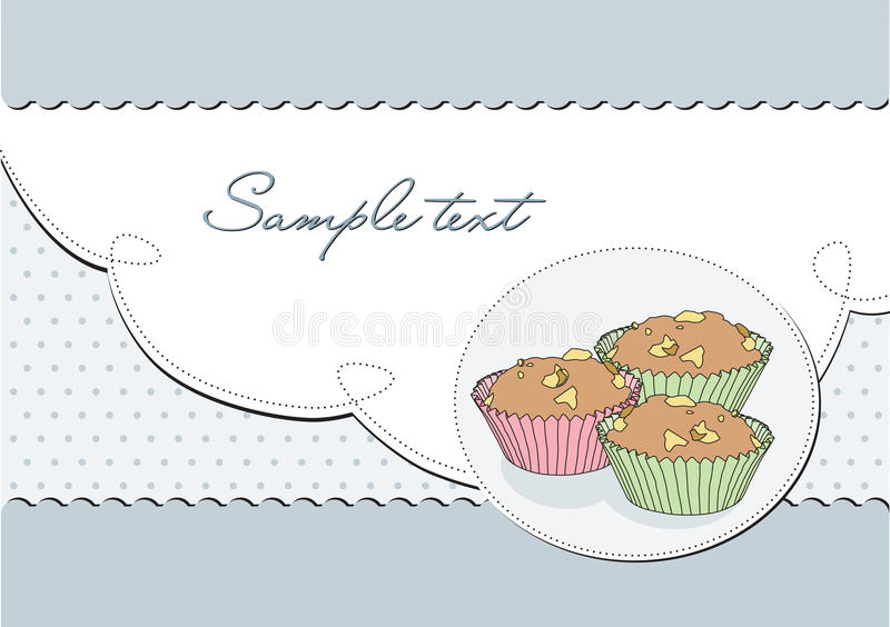 Download Background Retro Elegant With Muffin; Royalty Free Stock Photo - Image: 28892215