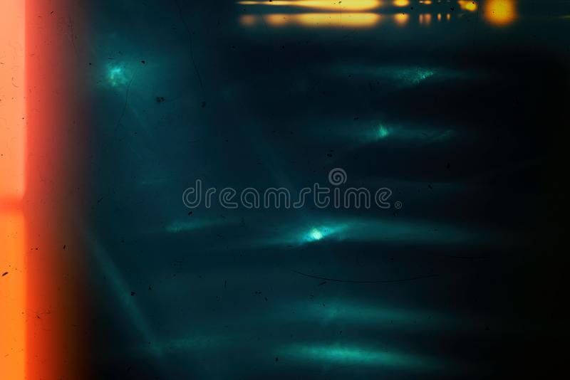 Background of retro film overly, image with scratch, dust and light leaks stock image