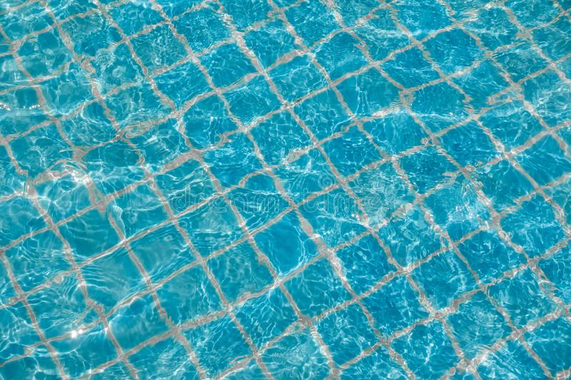Background of rippled pattern of clean water in a blue swimming. Pool, abstract, aqua, bright, clear, cool, fresh, light, liquid, nature, ocean, pure royalty free stock images