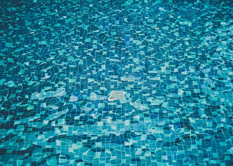 Background of rippled water in swimming pool royalty free stock image
