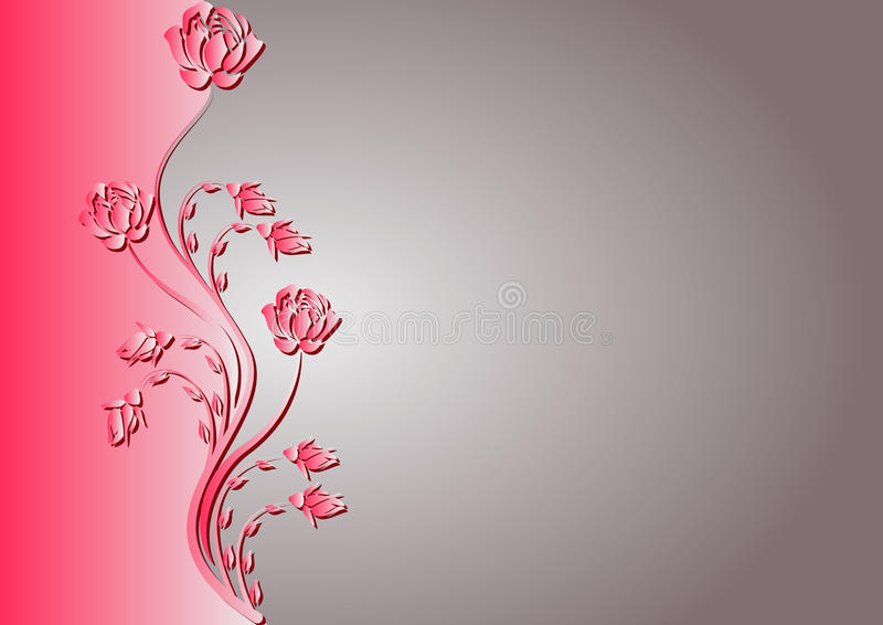 Background With Rose Stock Photo