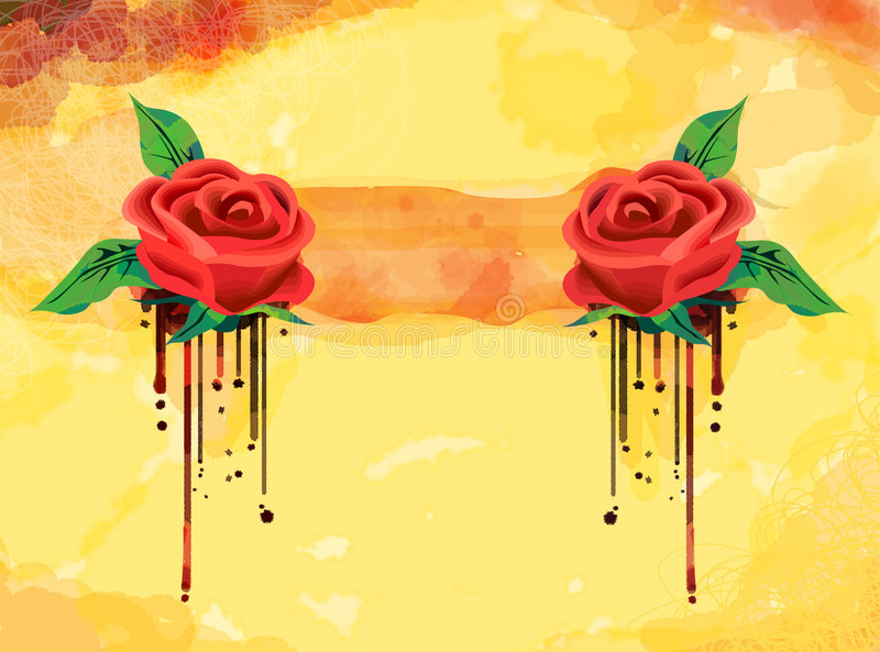 background rose иллюстрация вектора