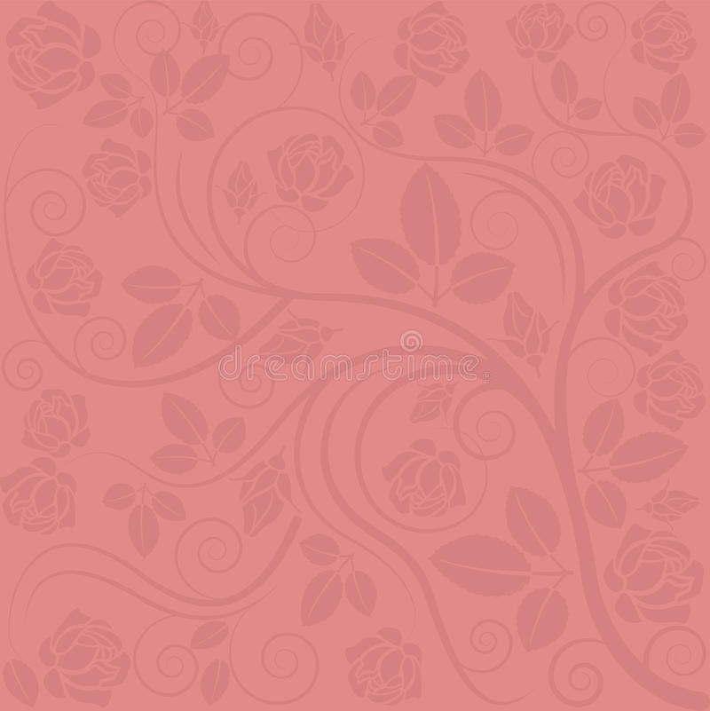 Background With Rose Decorations Stock Photography