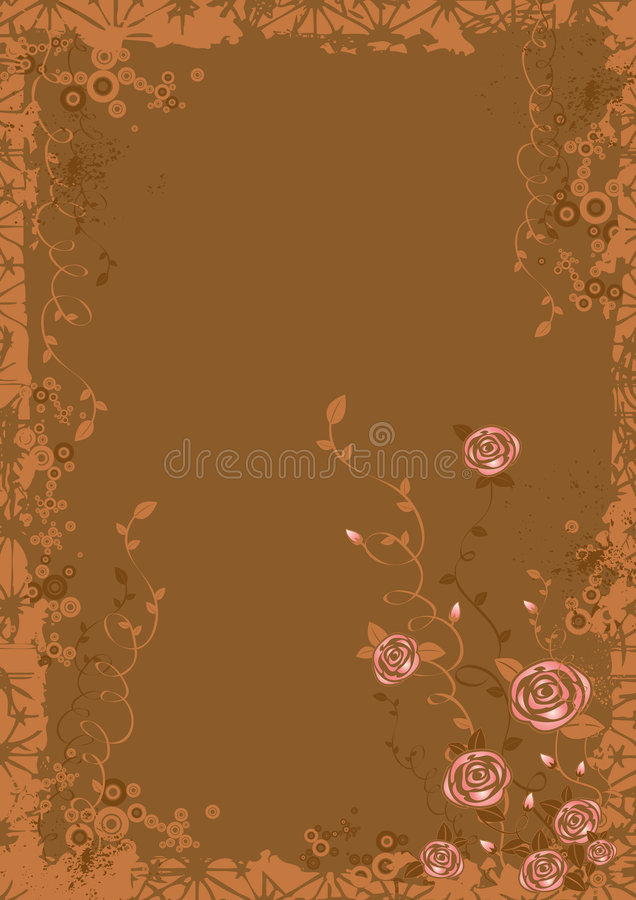 Background with Rose flowers royalty free illustration
