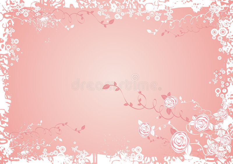 Background with Rose flowers vector illustration
