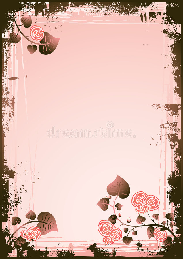 Background with Rose flowers stock illustration