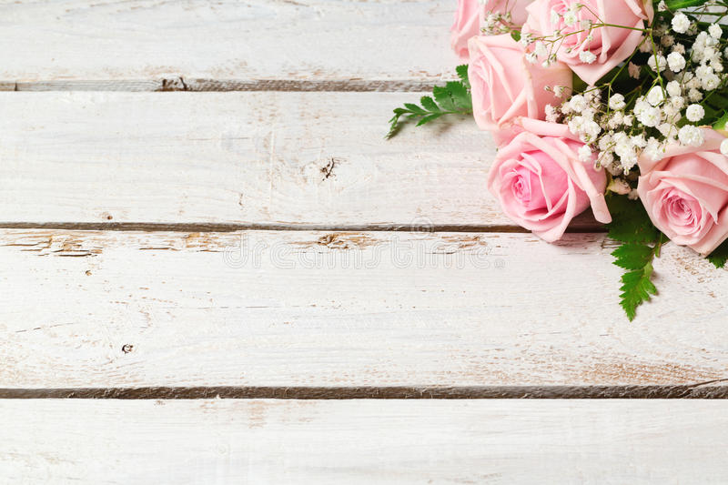 Background with rose flowers bouquet royalty free stock image