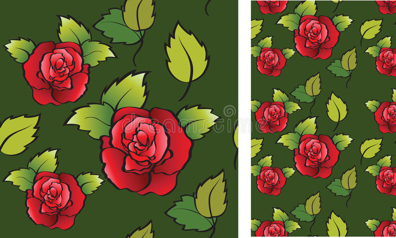 Background with roses stock illustration