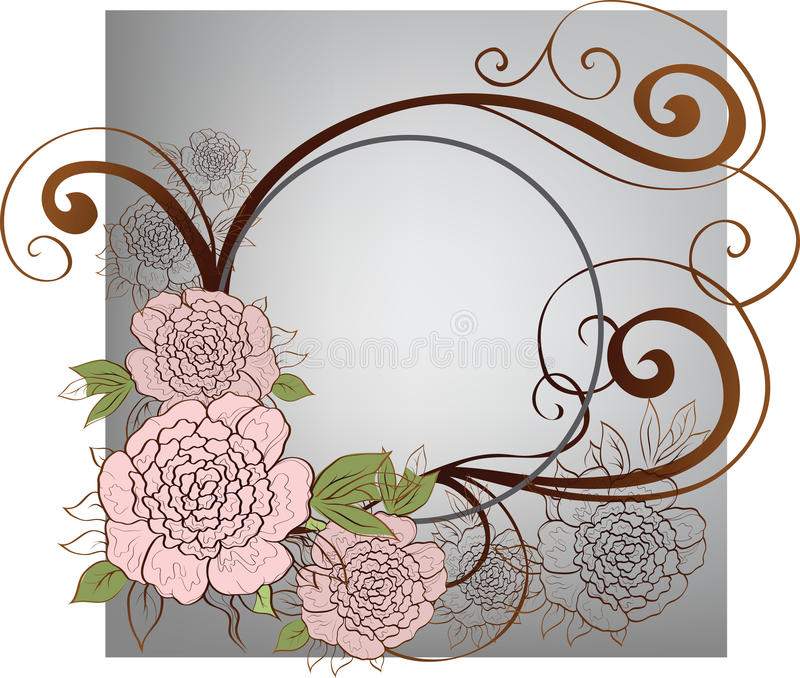 Background with roses vector illustration