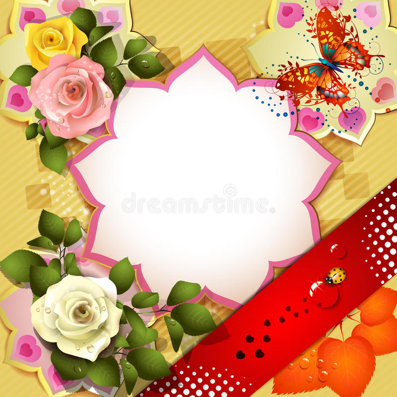 Background with roses royalty free illustration