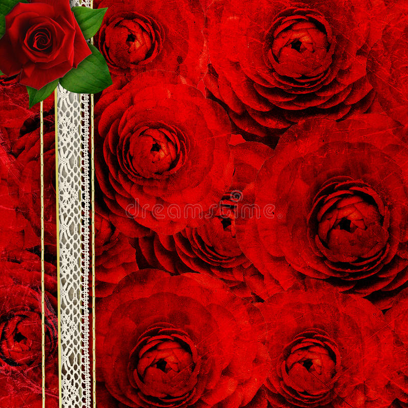 Download Background With Roses For The Cover Des Stock Photo - Image of decoration, background: 25859058