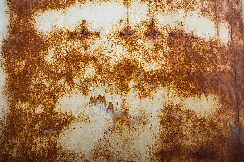 Background, rust on a metal plate stock photography
