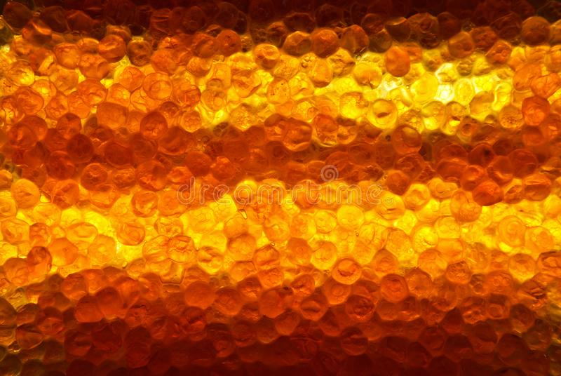 Background from salted red salmon caviar, illuminated by LED lamp royalty free stock photos