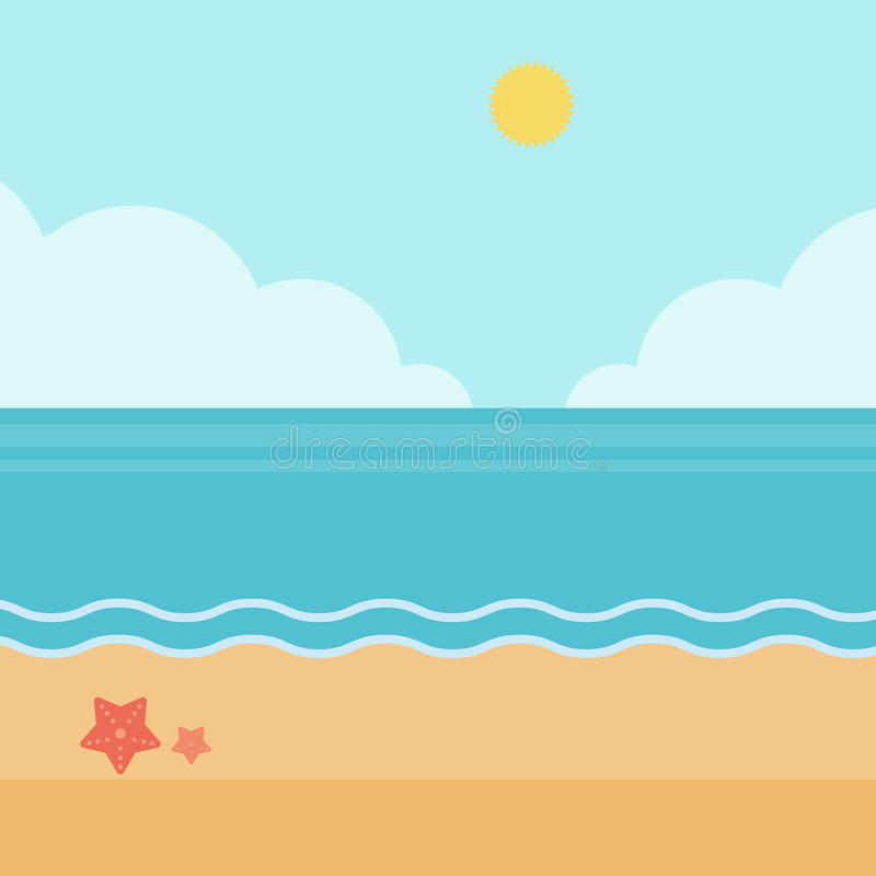background of sand beach with blue sea stock vector illustration rh dreamstime com sea vector wallpaper sea vector logo