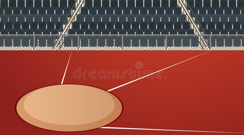 Background scene of track and field arena. Illustration royalty free illustration