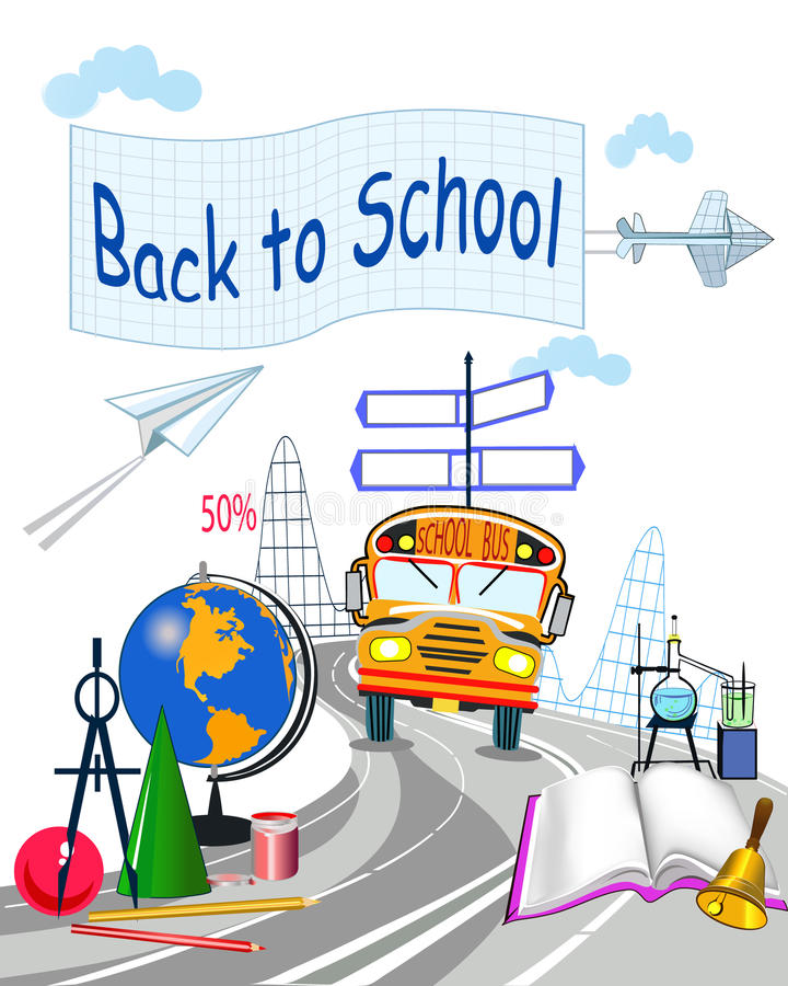 Download Background for school stock vector. Image of back, education - 20656819