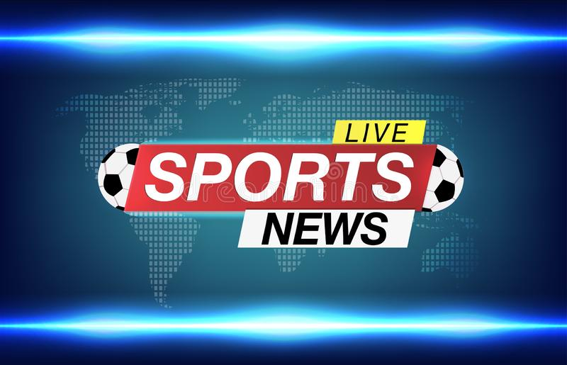 Background Screen Saver On Soccer Sports News. Sports News Live On World  Map Background. Vector Illustration. Stock Vector - Illustration of  breaking, sports: 126818433