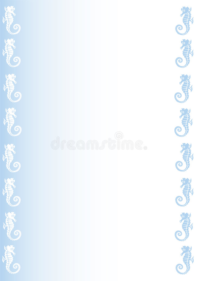 Background With Sea Horses Stock Images