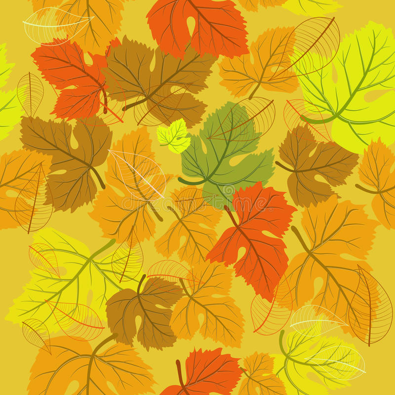Download Background seamless autumn stock vector. Illustration of leaf - 15621854