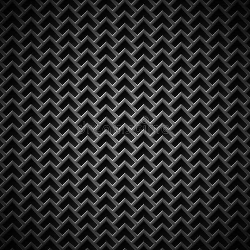 Background with Seamless Black Carbon Texture royalty free illustration