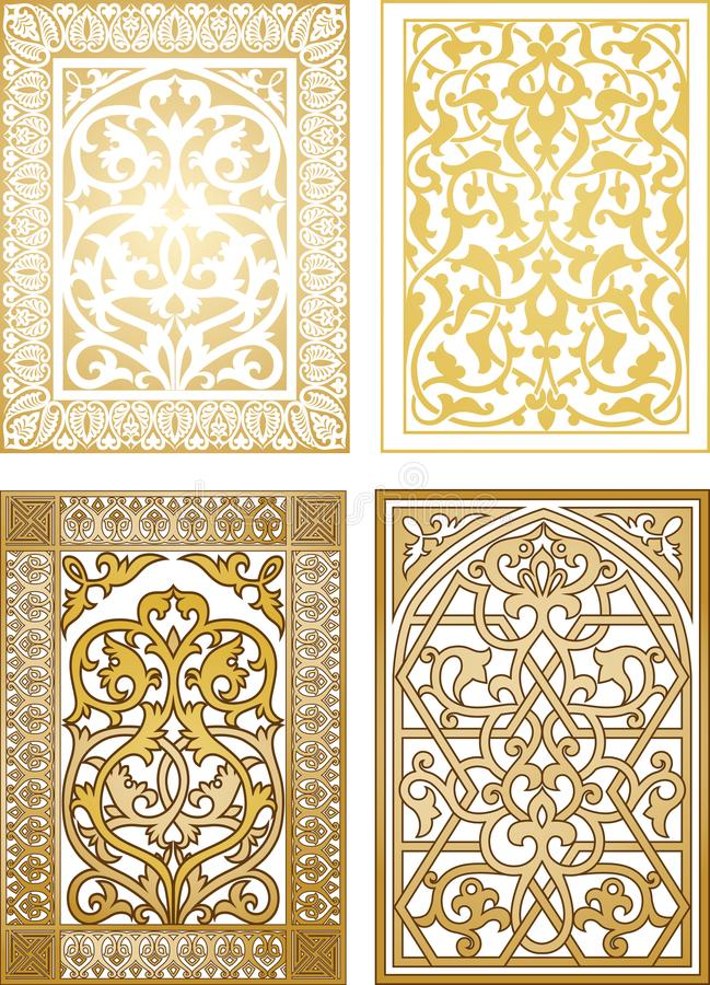 Arabic vintage ornament stock illustration