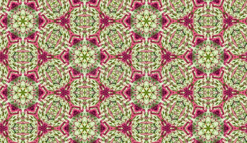 Background seamless pattern from the circle figures green and magenta colored. Geometric design template with symmetric ornament vector illustration