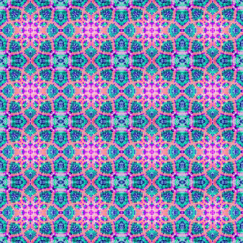 Background Seamless Tie Dye Pattern stock image