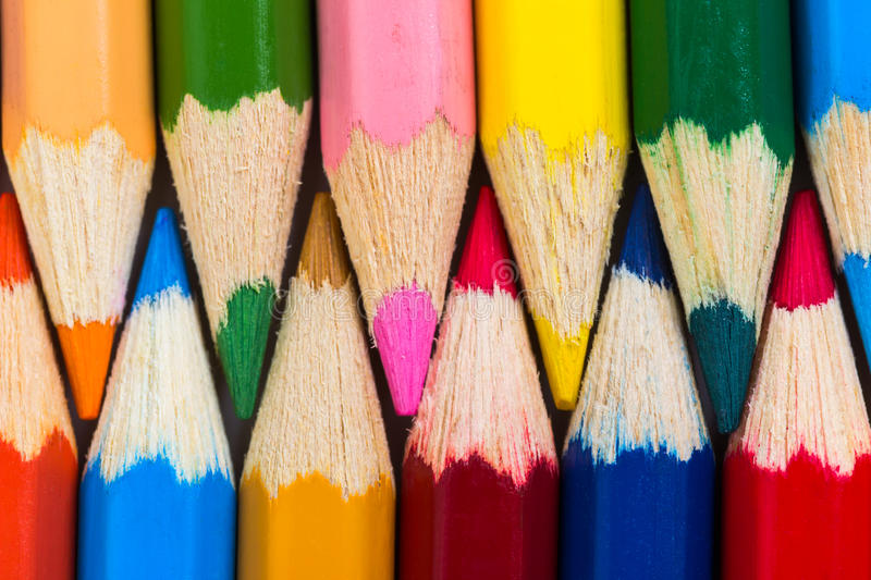 Background from set of colour pencils. royalty free stock photo