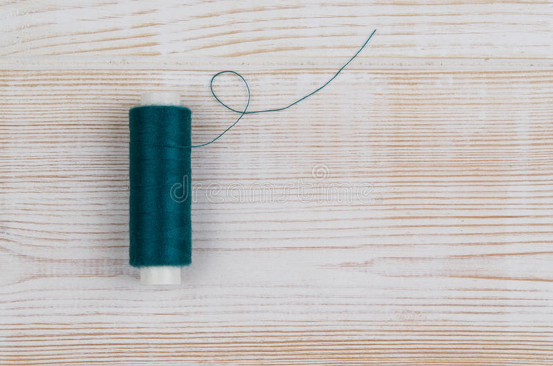 Background with sewing and knitting tools. Top view stock photos