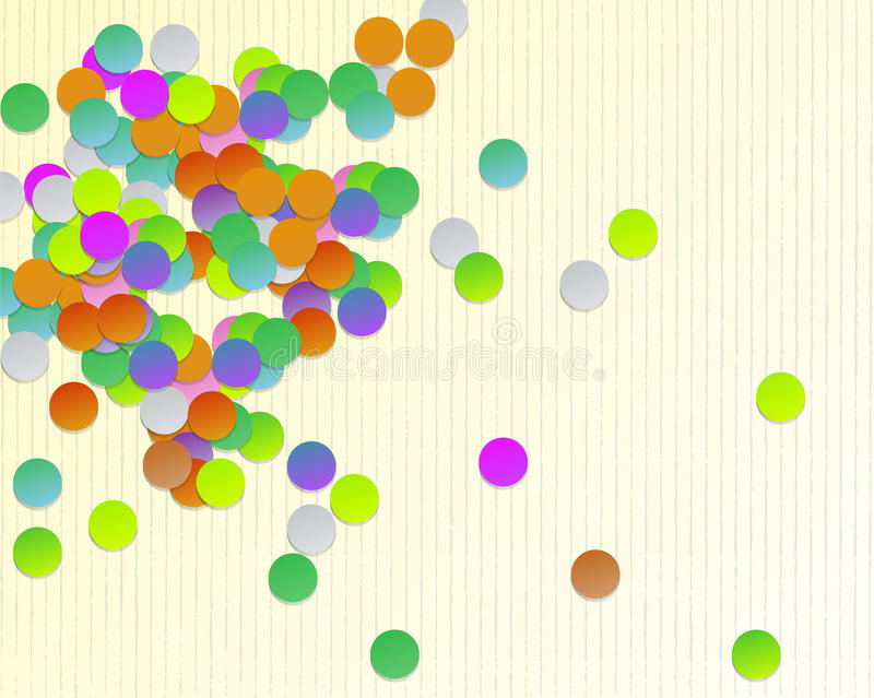 Download Background With Shaped Confetti Round Stock Illustration - Image: 27473242