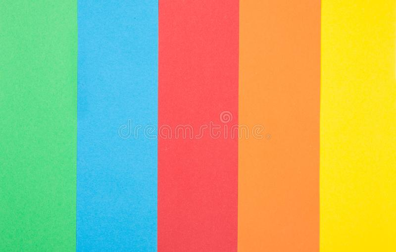 Background of Sheets of paper in different color royalty free stock images