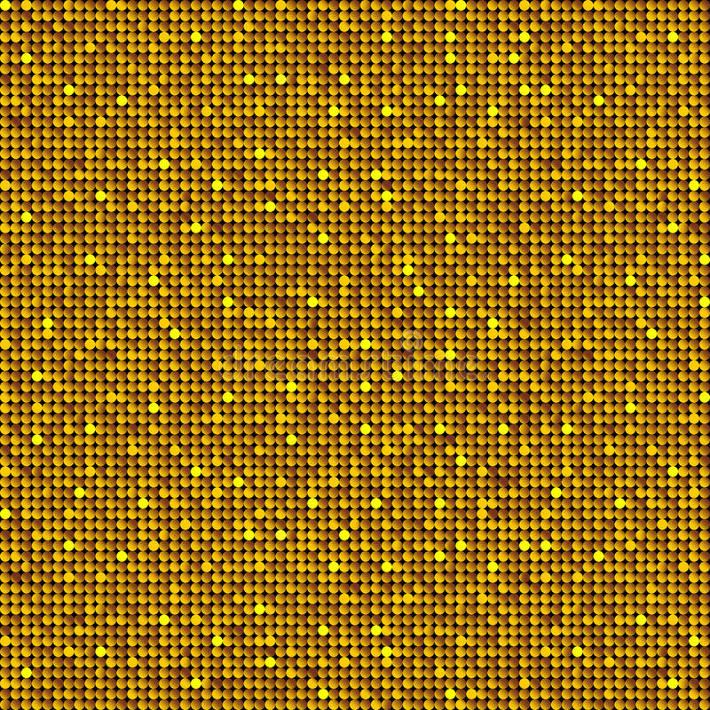 Background with shiny gold sequins. vector illustration