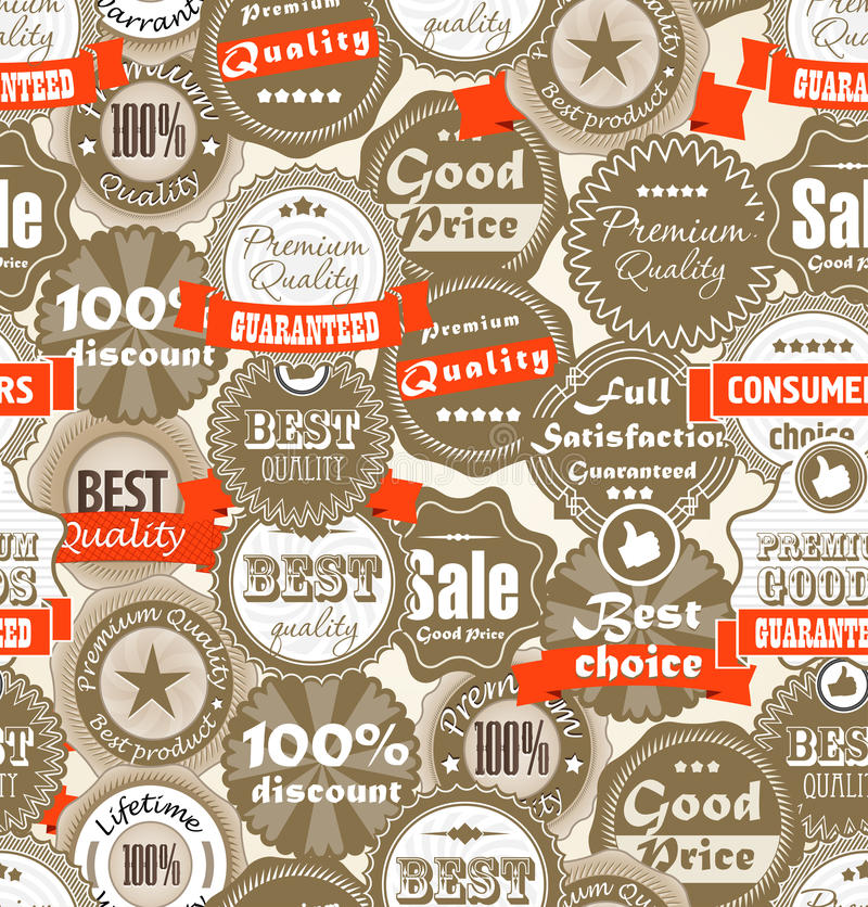 Download Background Of Shopping Premium Quality Labels Stock Vector - Image: 26394832