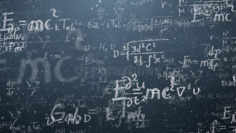 Background shot of blackboard with scientific and algebraic formulas and graphs written on it in graphics. Business. Concept - sketch with schemes and graphs on royalty free stock images